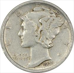 1926-D Mercury Dime EF Uncertified