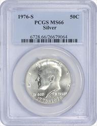 1976-S Kennedy Half Dollar MS66 Silver PCGS