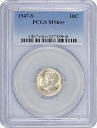 1947-S Roosevelt Dime MS66+ PCGS