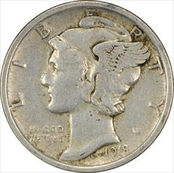 1918-P Mercury Dime EF Uncertified