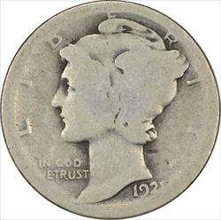 1921-P Mercury Dime AG Uncertified