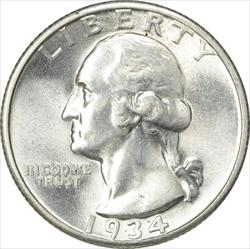 1934-P Washington Quarter MS63 Uncertified
