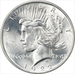 1922-P Peace Dollar MS63 Uncertified