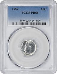 1952 Roosevelt Dime PR66 PCGS