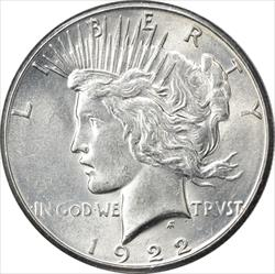 1922-S Peace Dollar AU Uncertified