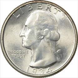 1934-P Washington Quarter MS64 Uncertified