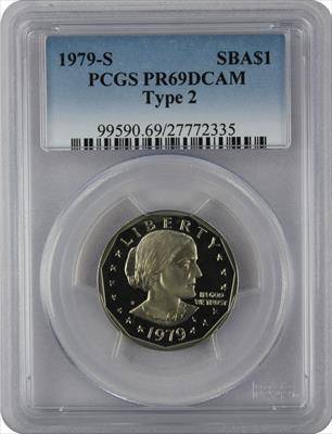 1979-S II Susan B. Anthony Dollar PR69DCAM PCGS