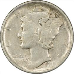 1918-D Mercury Dime AU Uncertified