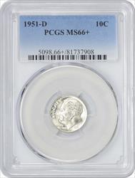 1951-D Roosevelt Dime MS66+ PCGS