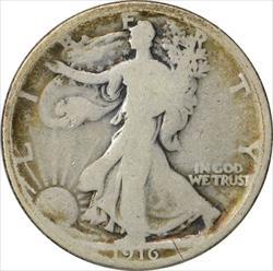 1916-P Walking Liberty Half Dollar G Uncertified