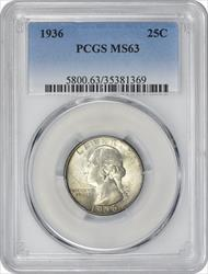 1936-P Washington Quarter MS63 PCGS