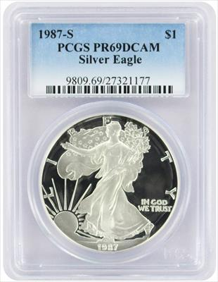 1987-S $1 American Silver Eagle PR69DCAM PCGS