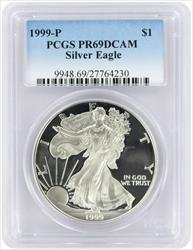 1999-P $1 American Silver Eagle PR69DCAM PCGS