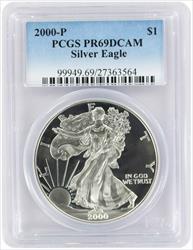 2000-P $1 American Silver Eagle PR69DCAM PCGS