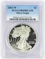 2003-W $1 American Silver Eagle PR69DCAM PCGS