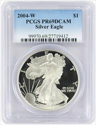 2004-W $1 American Silver Eagle PR69DCAM PCGS