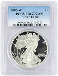 2006-W $1 American Silver Eagle PR69DCAM PCGS