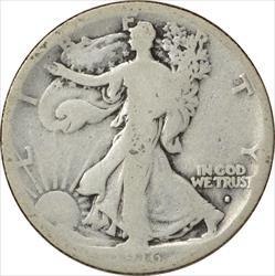 1916-S Walking Liberty Half Dollar AG Uncertified