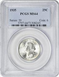 1935-P Washington Quarter MS64 PCGS