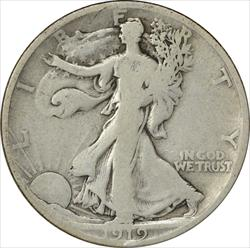 1919-D Walking Liberty Half Dollar VG Uncertified