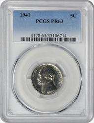 1941 Jefferson Nickel PR63 PCGS