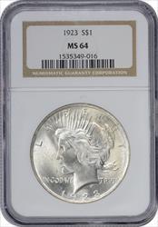 1923-P Peace Dollar MS64 NGC