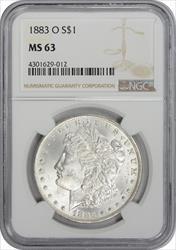 1883-O Morgan Silver Dollar MS63 NGC
