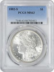 1882-S Morgan Silver Dollar MS63 PCGS