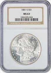1881-S Morgan Silver Dollar MS63 NGC