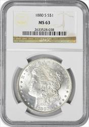 1880-S Morgan Silver Dollar MS63 NGC