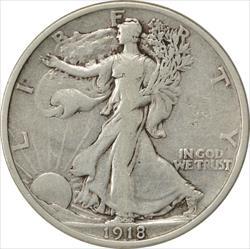 1918-P Walking Liberty Half Dollar VF Uncertified