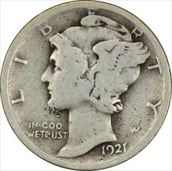 1921-D Mercury Dime G Uncertified