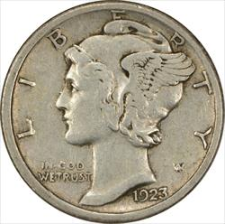 1923-S Mercury Dime EF Uncertified