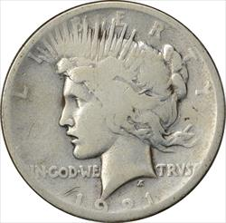 1921-P Peace Dollar G Uncertified