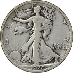 1920-D Walking Liberty Half Dollar F Uncertified