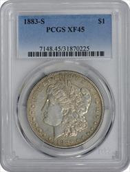 1883-S Morgan Silver Dollar EF45 PCGS