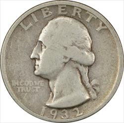 1932-S Washington Quarter VG Uncertified