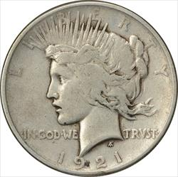 1921-P Peace Dollar VG Uncertified