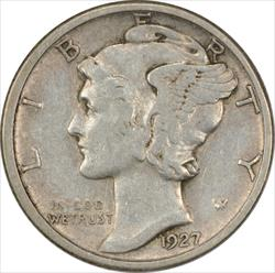 1927-D Mercury Dime EF Uncertified