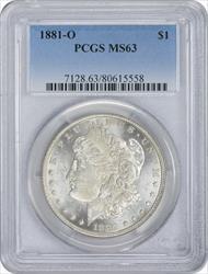 1881-O Morgan Silver Dollar MS63 PCGS