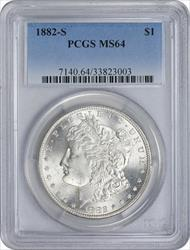 1882-S Morgan Silver Dollar MS64 PCGS