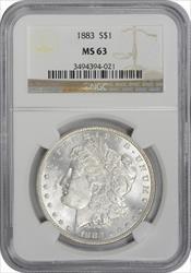 1883-P Morgan Silver Dollar MS63 NGC