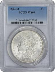 1883-O Morgan Silver Dollar MS64 PCGS