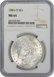 1883-O Morgan Silver Dollar MS64 NGC