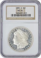 1880-S Morgan Silver Dollar MS64 NGC