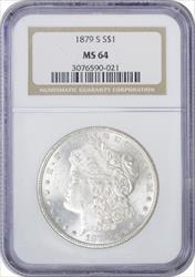 1879-S Morgan Silver Dollar MS64 NGC