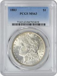 1883-P Morgan Silver Dollar MS63 PCGS