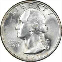 1932-P Washington Silver Quarter MS64 Uncertified