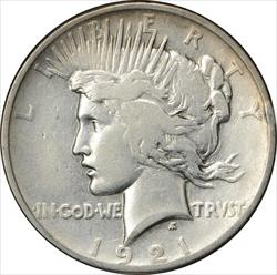 1921-P Peace Dollar F Uncertified