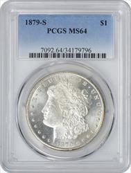 1879-S Morgan Silver Dollar MS64 PCGS